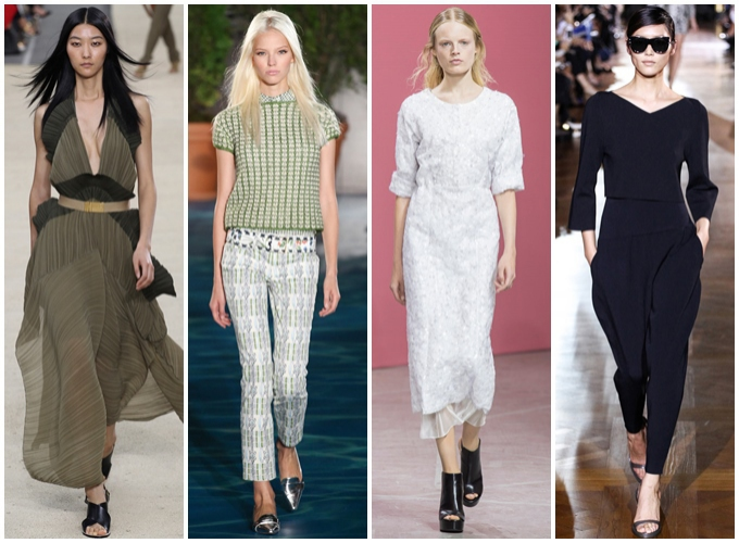Chloe s/s2014,Tory Burch s/s2014,Theyskens Theory s/s 2014,Stella McCartney s/s 2014